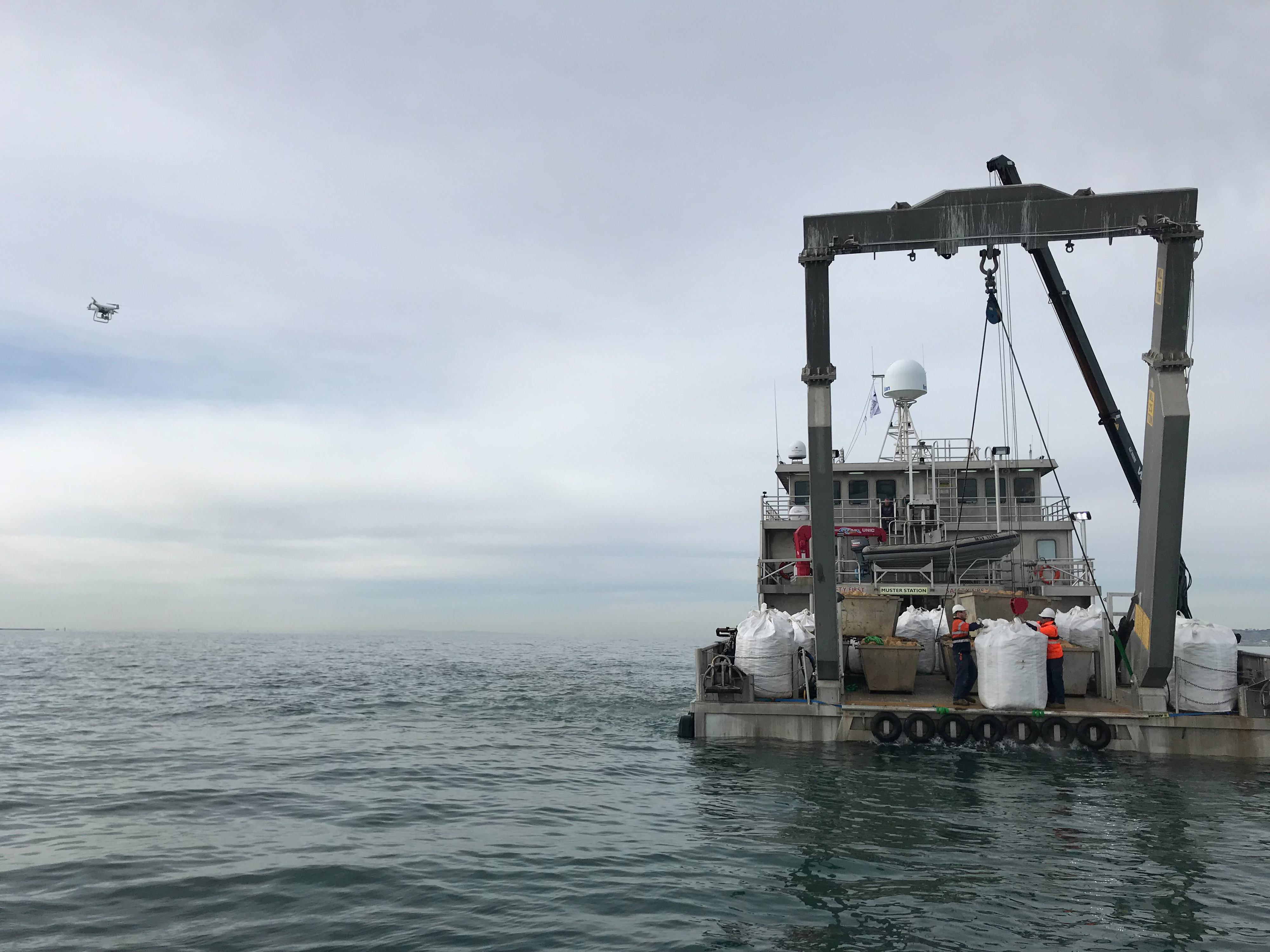 Latest update on reef construction in Port Phillip Bay.